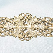 Miriam Haskell Gold Tone Fancy Bar Pin/Brooch