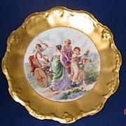 B&H Blakeman Henderson Limoges Gold Rim Porcelain Portrait Plate - Red Tag Sale Item