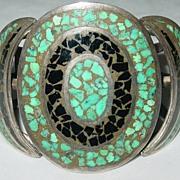 Vintage Native American Turquoise/Black Onyx Bracelet