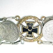 1915 Iron Cross Russian Coin Bracelet