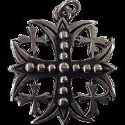 Vintage Sterling Silver James Avery Jerusalem Cross Pendant