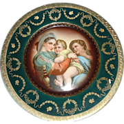 Royal Vienna Style Cabinet Plate with Madonna, Child and Saint John