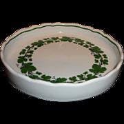 Meissen Full Green Vine/Ivy Pattern Round Low Bowl/Dish