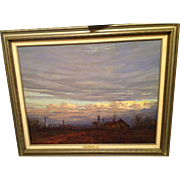 "Texas Artist Hal Warnick Framed Original Oil on Canvas Titled ""Inner Glow"""