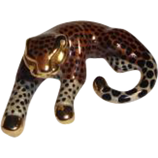 Vintage 14k Gold Leopard/Cheetah Pendant/Slide 3.6 grams