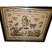 A 2nd Wedding Sampler Sewed by Jane McArthur Barr in 1841