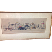 Signed Boris O'Klein Sex Appeal Lithograph/colored Etching