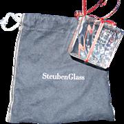 Steuben Present/Gift Box Christmas Ornament