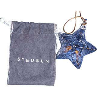 Steuben Star Christmas Ornament