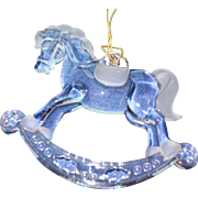 Tiffany Rocking Horse Christmas Ornament