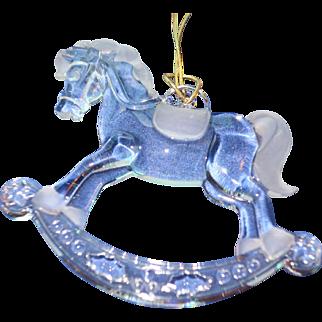 Tiffany Rocking Horse Christmas Ornament