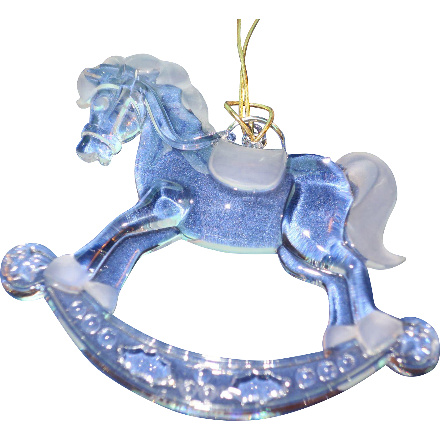 Tiffany Rocking Horse Christmas Ornament From
