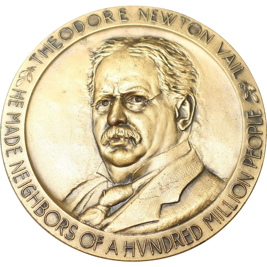 Theodore Newton Vail 1920 Bronze Medal Telephone & Telegraph Company