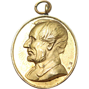 Abraham Lincoln Hughes Bovy Medal/Pendant Martyr to Liberty 15th April 1863