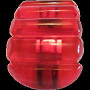 Art Deco Cherry Juice Red Prystal Bakelite Carved Curved Dress Clip