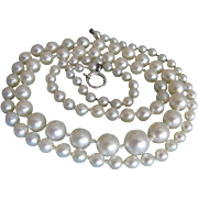 Vintage Very Fine Cultured Akoya Saltwater Graduated Necklace with *CERTIFIED  APPRAISAL* $1050