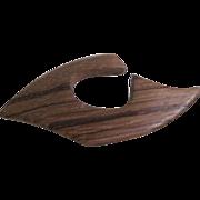 Mid Century Wooden Danish Modern Shape Pin Brooch 2 for 1 OFFER