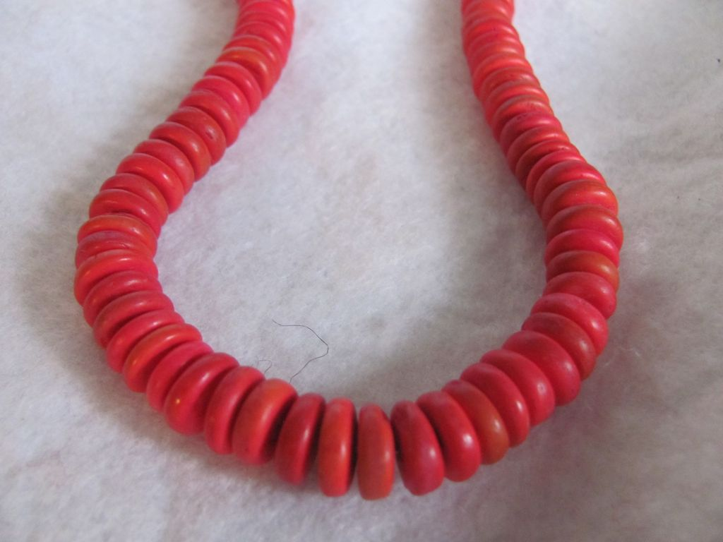 Vintage Dyed Coconut Husk Bead Heishi bead Necklace 2 for 1 offer