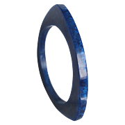 Vintage Early Plastic  Triangle Shape Blue Swirl Bangle