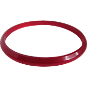 Art Deco REd  Prystal Bakelite Cherry Juice Slender Bangle