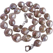 Joie de l'Orient Chinese  Wrinkle Freshwater Cultured  Pearl 12-17mm Necklace with Certified Appraisal $3465
