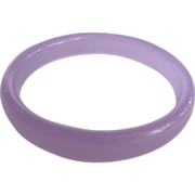 Vintage Light Lavender Glass Bangle