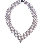 Vintage Freshwater Cultured Pearl Woven Necklace with Certified Appraisal $720