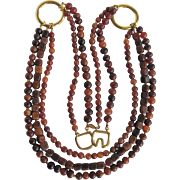 Vintage Kenneth Lane Signed Horn Bead Bold Necklace with *Certified Appraisal* $1350