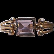 Vintage Amethyst Square Cut 18mm Modernist Bracelet