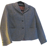Vintage Harris Tweed Women's lined Blazer with Welt Pockets Petite Large