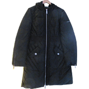 90's DKNY Medium Black Quilted Down filled Punk Inspired Zipper Coat