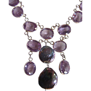 Little Creations A+ Blue Cultured Pearls with Lab Created Color Change Spinels Necklace Certified Appraisal $6975!!!!