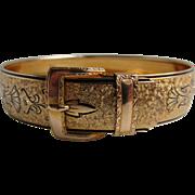Vintage 1/20th 12kt GF Signed Hayward Taille d'Epergne Buckle Bracelet