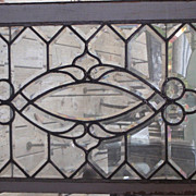 Early 20th century clear beveled window
