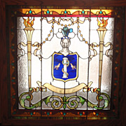 American Asciepius  stained glass window