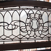 American clear textured stained glass window