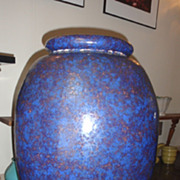 Spectacular motled colors  in this large Galloway pot