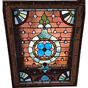 Sparkling jewels in this Victorian stained glass window