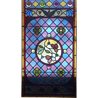 Wonderful jewels in this floral stained glass windows