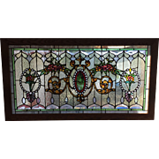 Outstanding jeweled stained glass window
