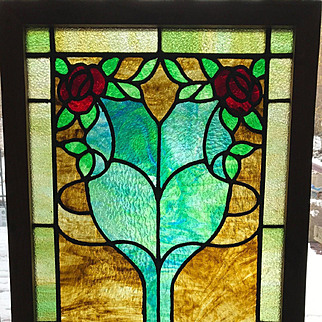 Early 20th century stained glass window