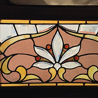 Stained and beveled transom window