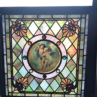 Wonderful and unusual stained glass window
