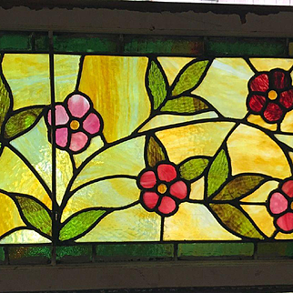 Wonderful use of glass in this floral transom