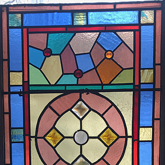 Jeweled Victorian stained glass window