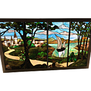 Spectacular scenic window from a 1905 arts and crafts  Illinois  home