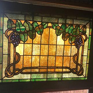Circa 1910 grape arbor stained glass window