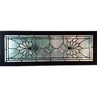 Clear and beveled stained glass window