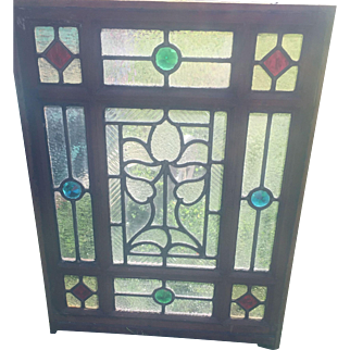 Small interesting stained glass window