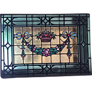 Basket of fruit stained glass window